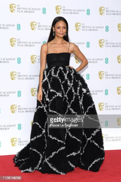 Thandie Newton poses in the press room during the EE British Academy Film Awards at Royal Albert Hall on February 10 2019 in London England