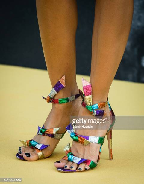 Thandie Newton shoe detail attends the UK premiere of Yardie at BFI Southbank on August 21 2018 in London England