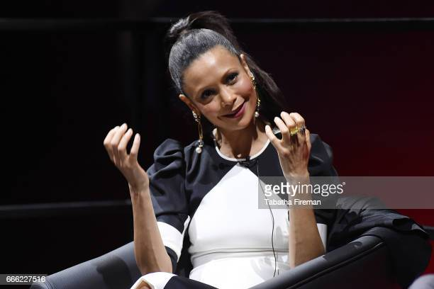 Thandie Newton speaks onstage during the panel discussion about Line of Duty at the BFI Radio Times TV Festival at the BFI Southbank on April 8 2017...