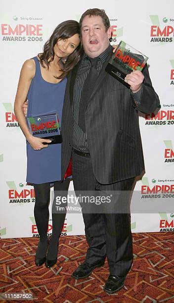 Thandie Newton who won the Best Actress award for the film Crash and Johnny Vegas who picked up the award for Best Actor on behalf of Johnny Depp for...