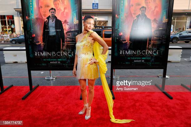 """Thandiwe Newton arrives at Warner Bros. Pictures """"Reminiscence"""" Los Angeles Premiere at TCL Chinese Theatre on August 17, 2021 in Hollywood,..."""