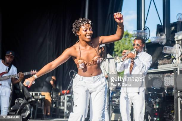Thandiwe of Oshun performs on stage at AFROPUNK 2017 on October 15 2017 in Atlanta Georgia