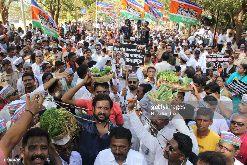 IND: MNS Organises Farmers Demonstration To Protest Exploitation By Local Politicians In Mumbai