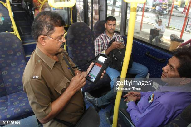 Thane Municipal Transport starts eticketing system in its 30 air conditioned buses on February 14 2018 in Mumbai India
