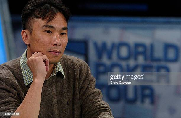 Thang Pham competes at the final table of six players of the World Poker Tour's Doyle Brunson North American Poker Championship at the Bellagio Hotel...