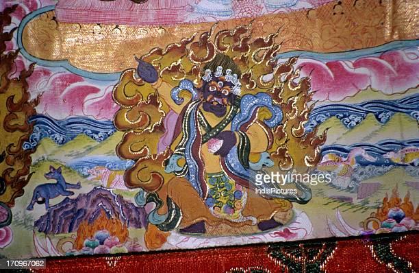 Thangka painting in Dharamsala Himachal Pradesh India