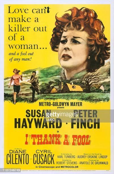 Susan Hayward bottom left Diane Cilento on poster art 1962