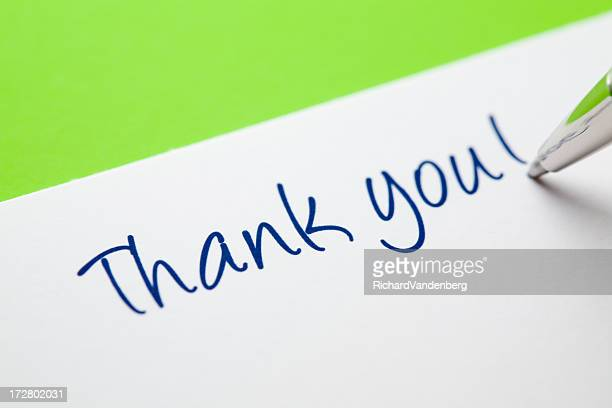 Thank You Card on Green