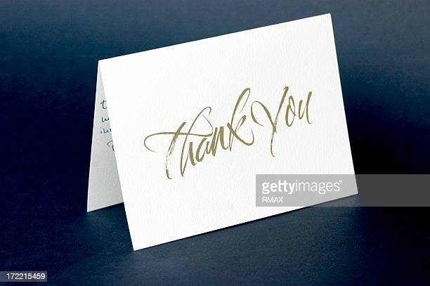 thank you card - greeting card bildbanksfoton och bilder