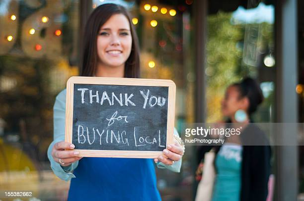 thank you for buying local - community stock pictures, royalty-free photos & images