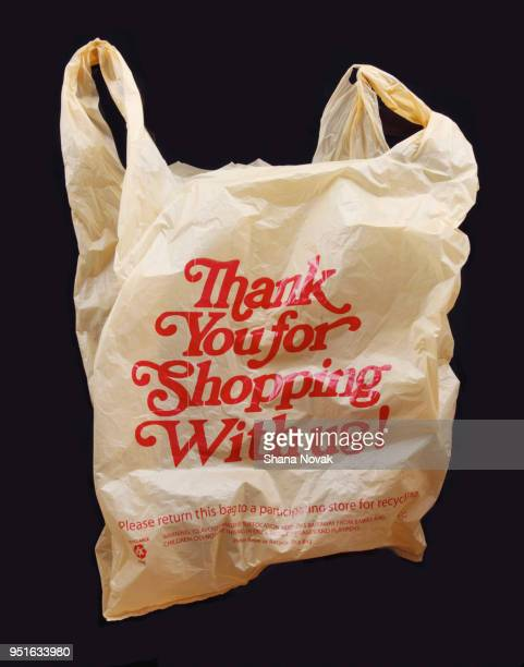 thank you for shopping with us! plastic bag - shopping bag stock pictures, royalty-free photos & images