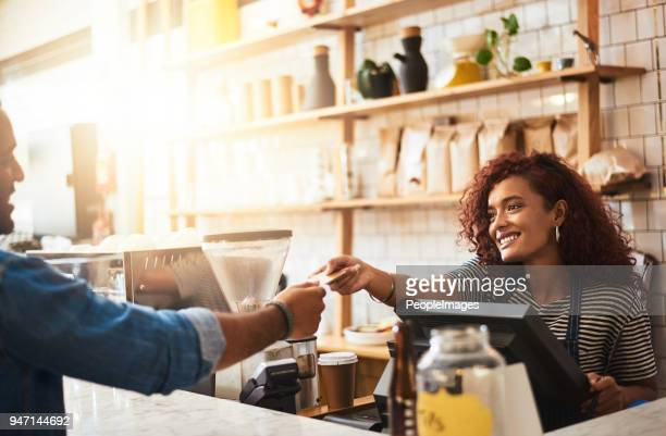 thank you for stopping by the best cafe in town - credit card stock pictures, royalty-free photos & images