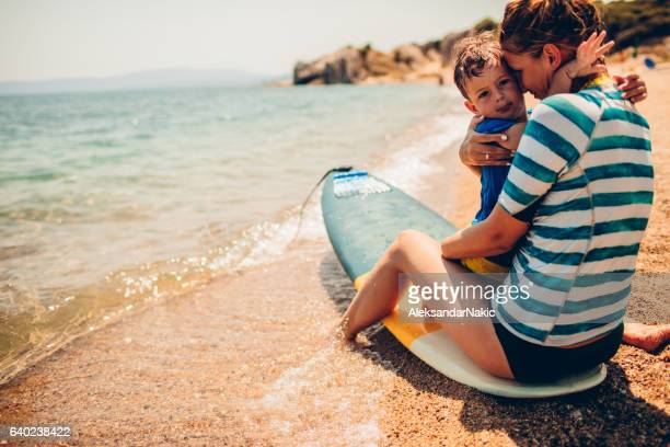 thank you for surfing lessons - mothers day beach stock pictures, royalty-free photos & images