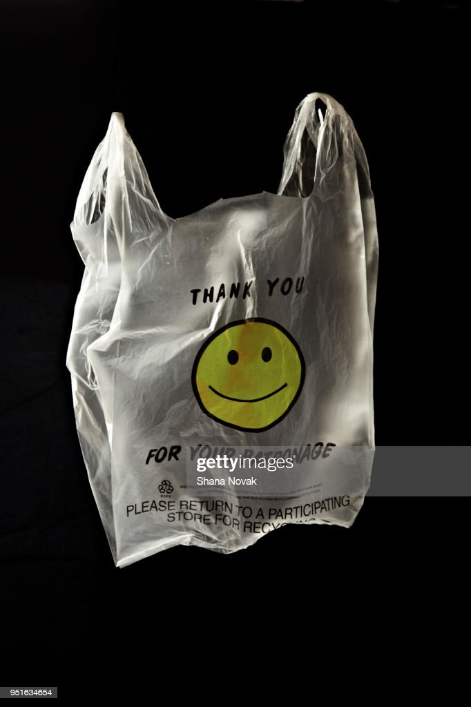 """""""Thank You For Your Patronage"""" plastic shopping bag : Stock Photo"""