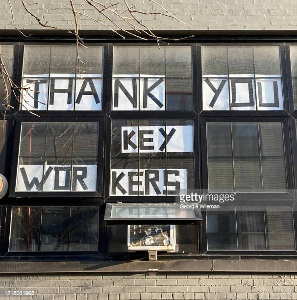 thank you key workers - coronavirus, covid-19 - thank you stock pictures, royalty-free photos & images