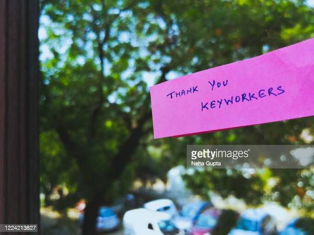 thank you keyworkers. covid-19 crisis. - essential services stock pictures, royalty-free photos & images