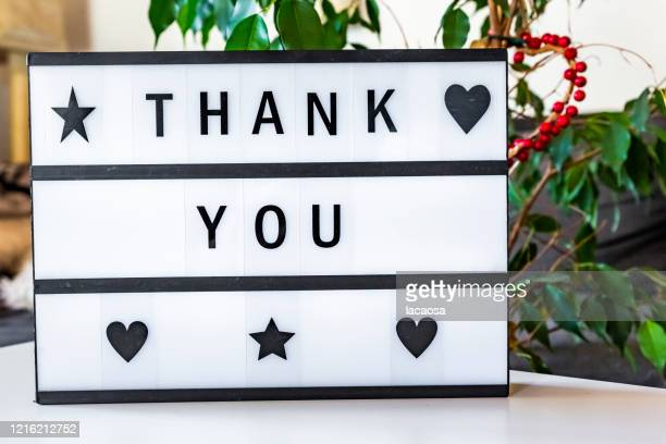 thank you message in lightbox - thanks quotes stock pictures, royalty-free photos & images