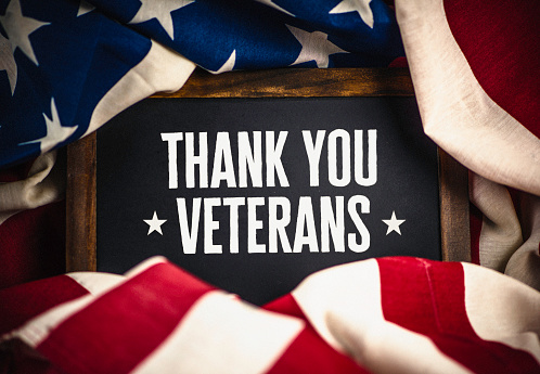 Thank you military veterans. US military veterans thank you message 621489420