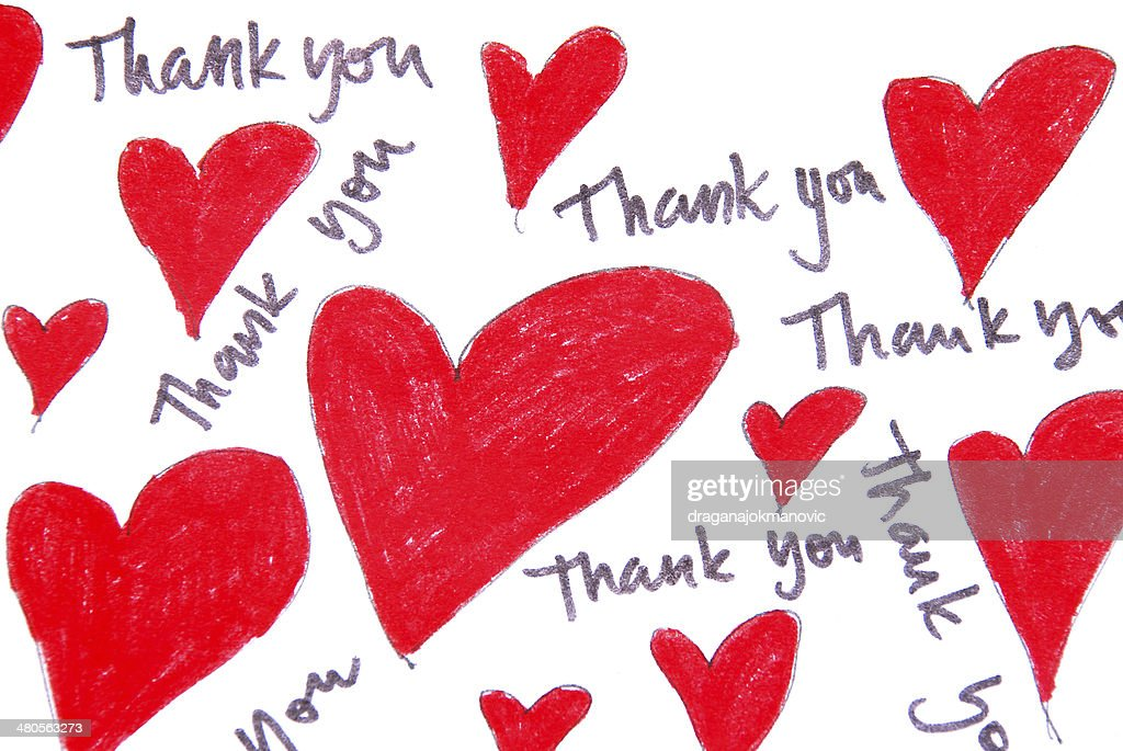 thank you note : Stock Photo