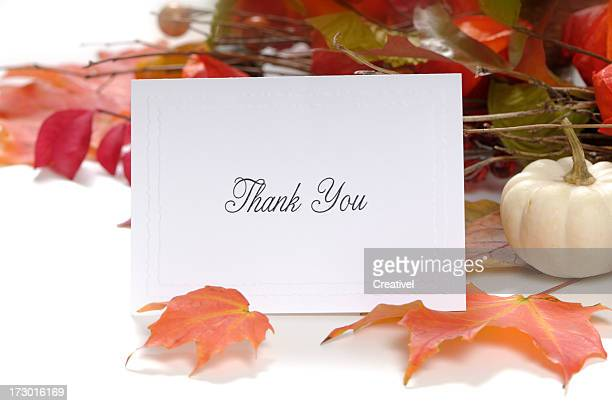thank you note - thanksgiving concept - happy thanksgiving card stock pictures, royalty-free photos & images