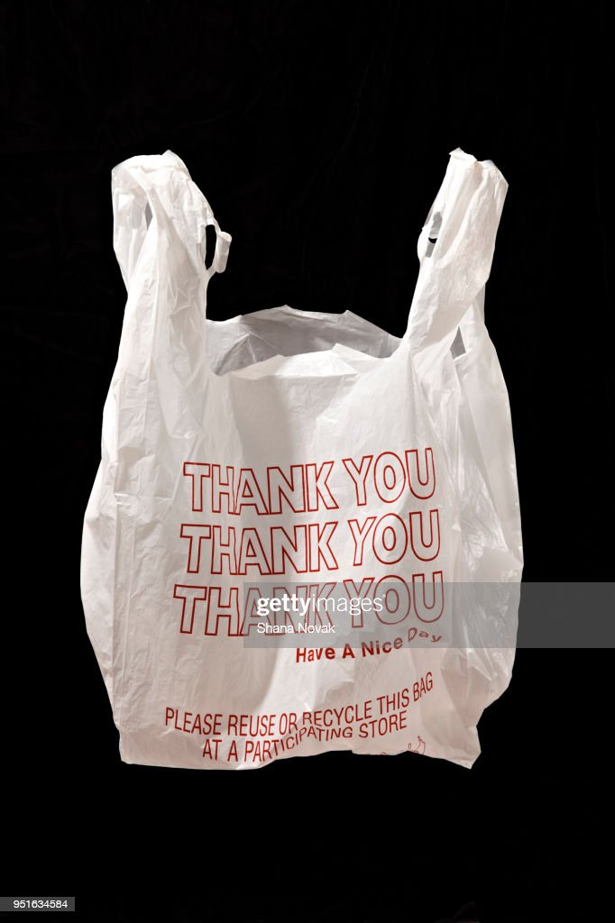 """Thank You"" Plastic Shopping Bag : Stock Photo"