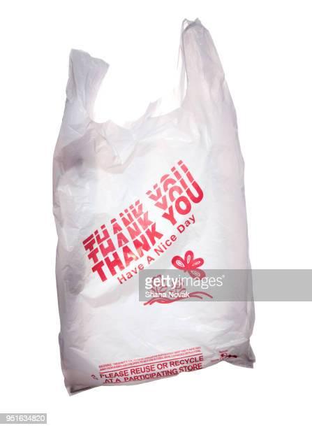 """""""thank you"""" plastic shopping bag - ビニール袋 ストックフォトと画像"""