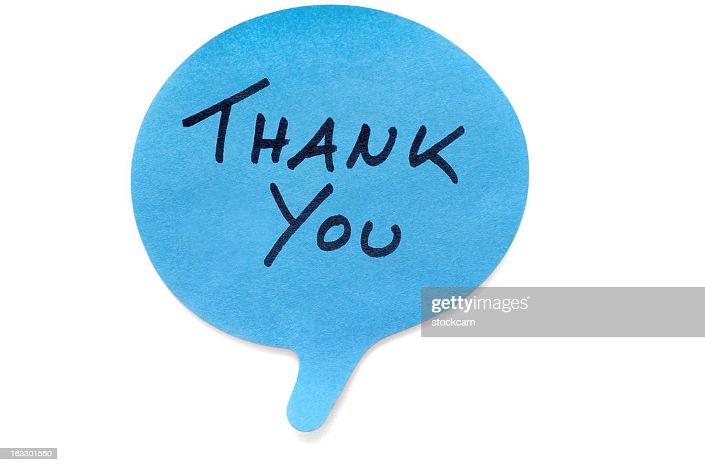 Thank You Post-it Note : Stock Photo