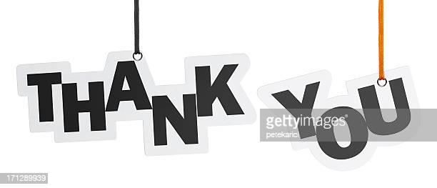 thank you, speech bubble (clipping path) - thanks quotes stock pictures, royalty-free photos & images