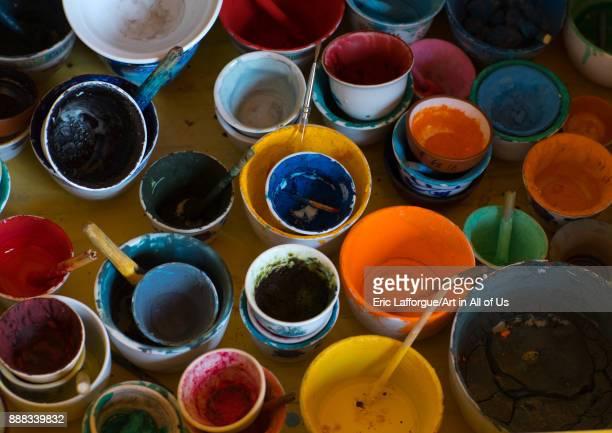 Thanka natural powders to paint Qinghai province Wutun China on October 26 2017 in Wutun China