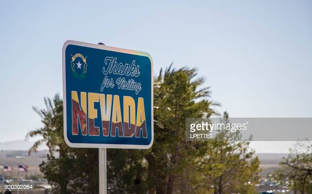 thanks for visiting nevada - us state border stock photos and pictures