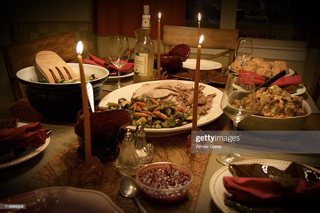 Thanks giving  table setting : Stock Photo