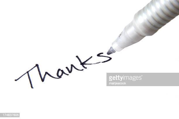 Dank Handschrift
