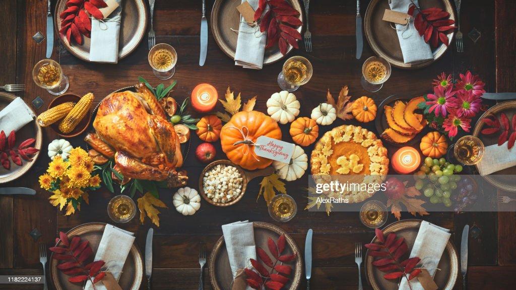 Thanksgiving celebration traditional dinner : Stock Photo