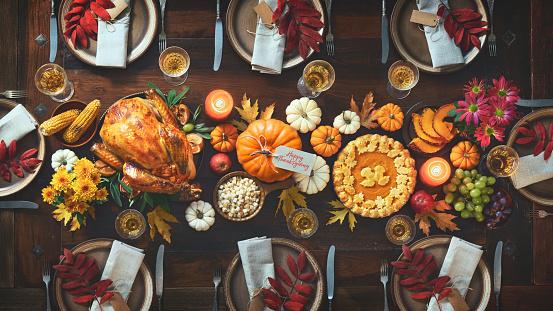 Thanksgiving celebration traditional dinner 1182224137