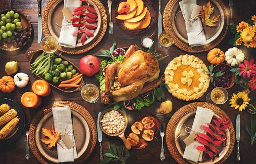 Thanksgiving celebration traditional dinner 1185245585