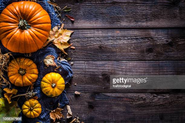 Thanksgiving day or autumn pumpkin holiday background