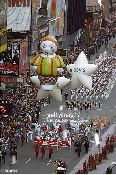 Thanksgiving Day Parade Grand entrance at Times Square Macy's Thanksgiving Day Parade
