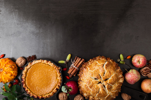 Thanksgiving Day traditional desserts background - gettyimageskorea