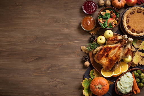 Thanksgiving Dinner background 1050723690