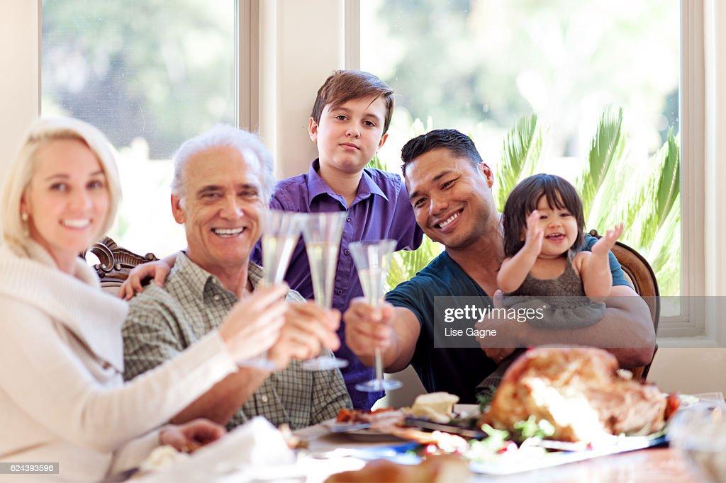 Cena del Día de Acción de gracias  : Foto de stock