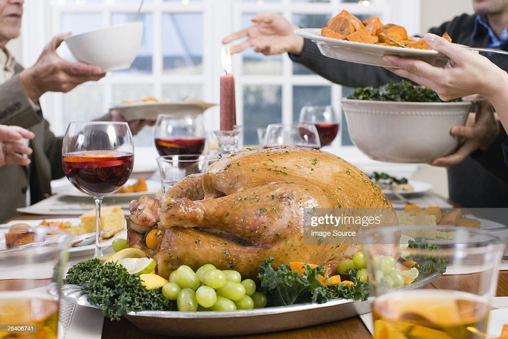 Thanksgiving dinner : Stock Photo