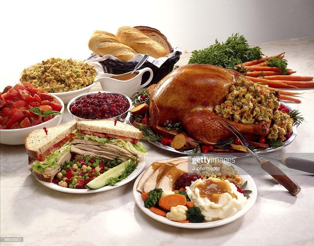 Thanksgiving feast : Stock Photo