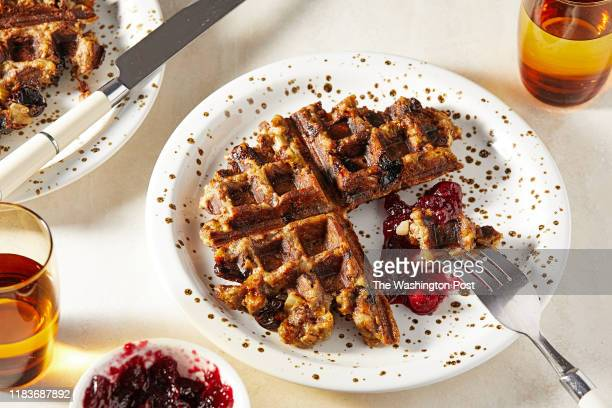 Thanksgiving leftovers Stuffing waffle Photographed for Voraciously at The Washington Post via Getty Images in Washington DC
