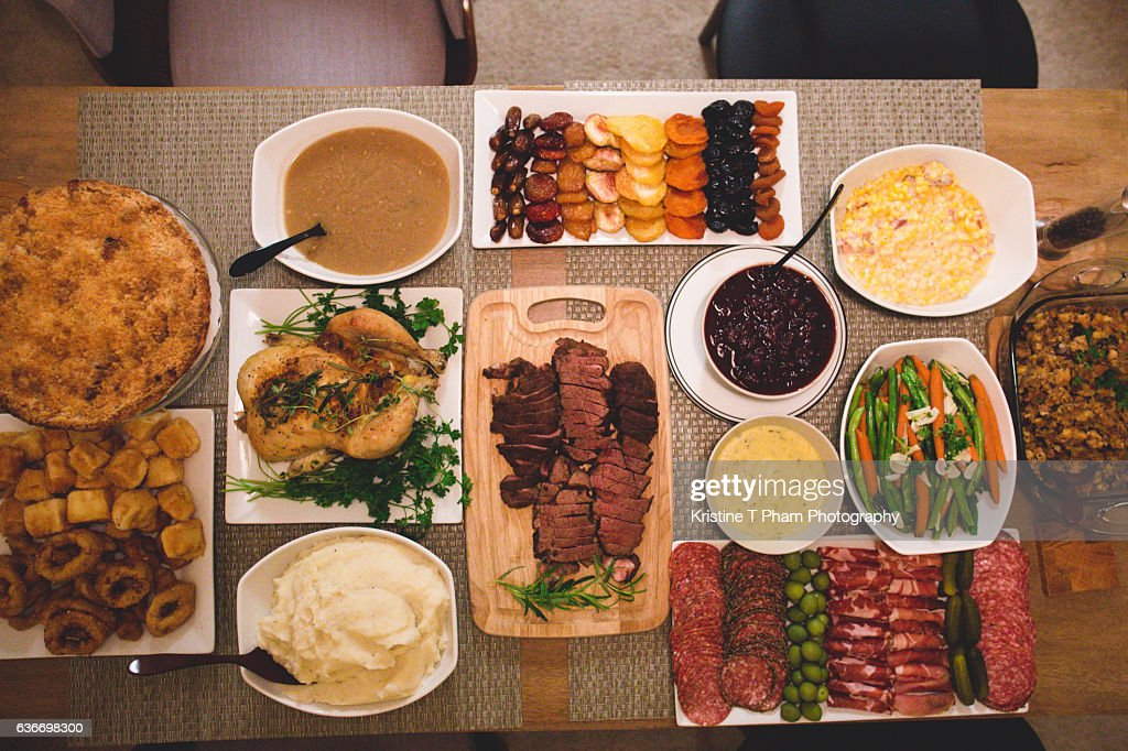 Thanksgiving meal : Stock Photo