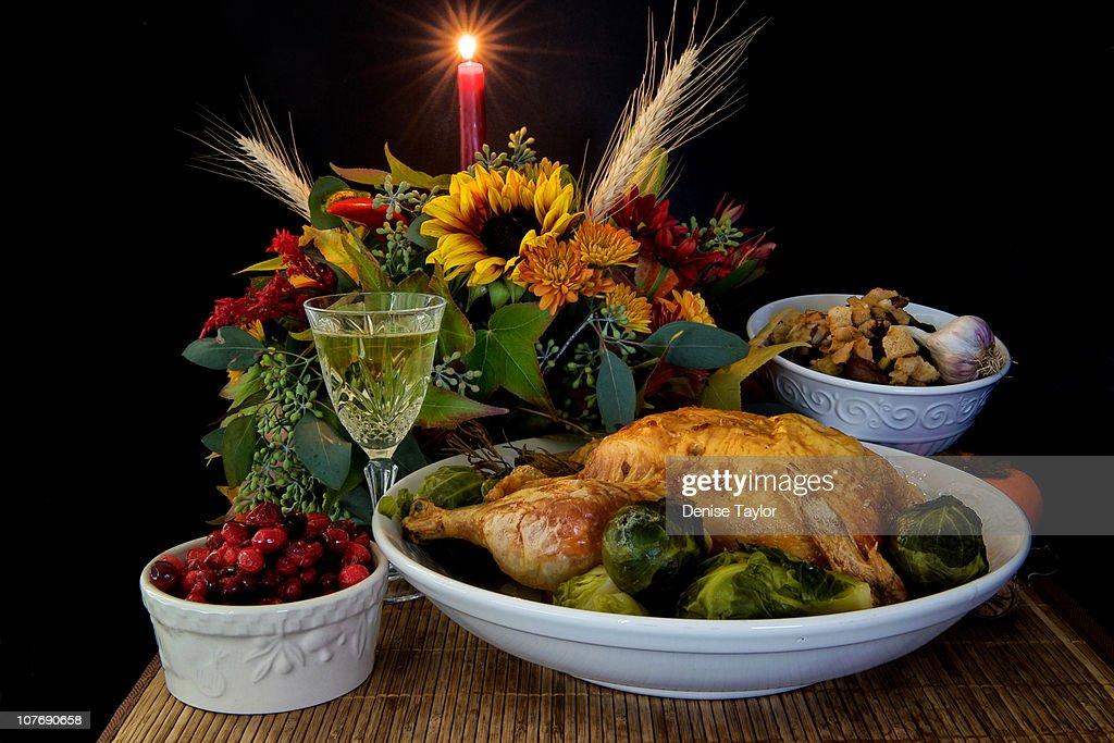 Thanksgiving or Christmas dinner : Stock Photo