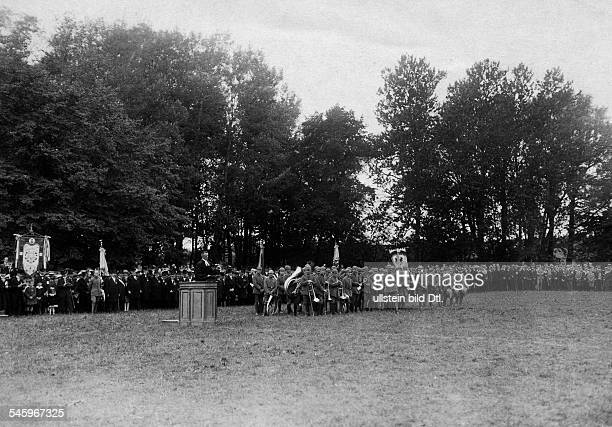 Thanksgiving service held at a field near Insterburg on the occasion of the victory in the Battle of Tannenberg September 1914 or 1915