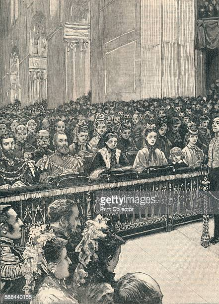 Thanksgiving service in St Paul's Cathedral London 1871 The service of thanksgiving for the recovery of the Prince of Wales from typhoid From...