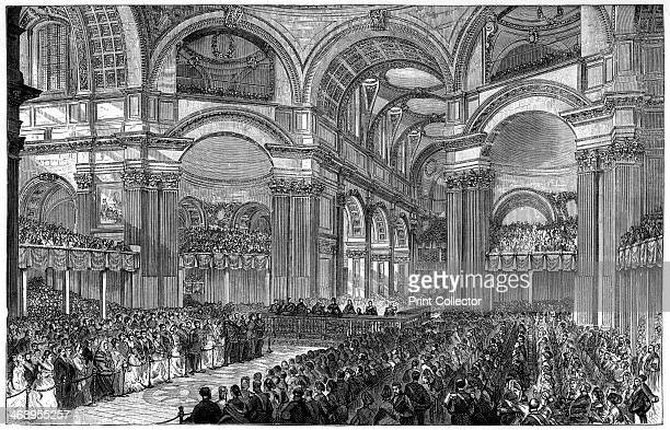 Thanksgiving service in St Paul's Cathedral London 1900 Illustration from The Life and Times of Queen Victoria by Robert Wilson Volume IV