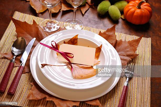 thanksgiving table - happy thanksgiving card stock pictures, royalty-free photos & images