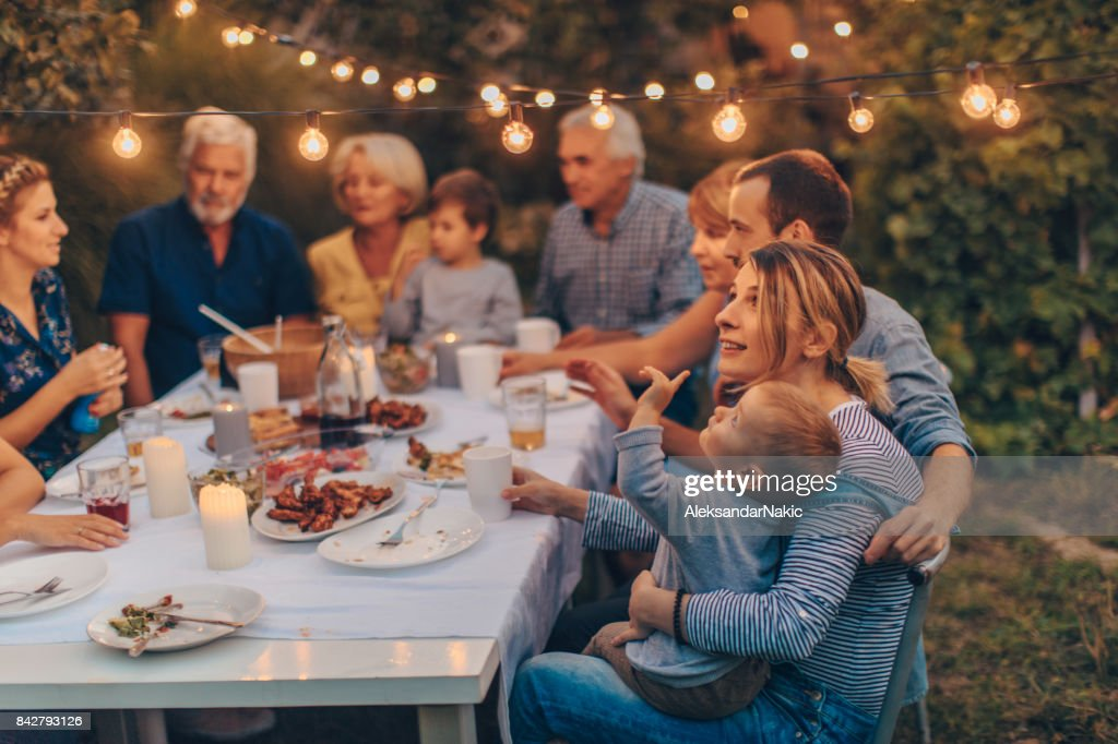 Ação de Graças com a família : Foto de stock